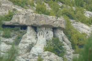 rocks with ancient signs (wholes)